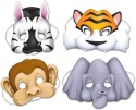 Beistle Jungle Party Animals Face Masks Party Mask - Multicolor, Pack Of 4