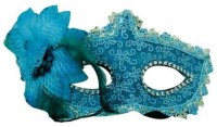 Smartcraft Glam Girl Eye -Blue Party Mask (Multicolor, Pack Of 1)