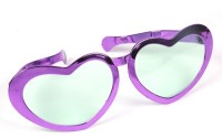 Funcart Jumbo Heart Glasses Party Mask (Purple, Pack Of 1)
