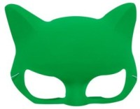 Smartcraft Plain Neon Cat Green Party Mask (Multicolor, Pack Of 1)