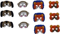 Themed Celebrations Jungle Animals Party Mask (Multicolor, Pack Of 12)