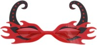 Tootpado Flame Polka Dots Party Mask (Red, Pack Of 1)
