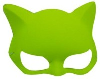 Smartcraft Plain Neon Cat Yellow Party Mask (Multicolor, Pack Of 1)
