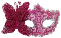 Smartcraft Venetian Eye -Pink Party Mask (Multicolor, Pack Of 1)