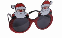 Atpata Funky Christmas Santa Claus Red Goggle Party Mask (Red, Pack Of 1)
