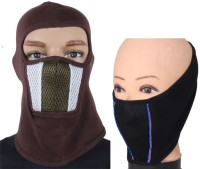 Sushito Combo Pack Of 2 Balaclava (Brown, Black, Pack Of 2)