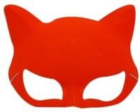 Smartcraft Plain Neon Cat Orange Party Mask (Multicolor, Pack Of 1)