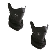 Empower Earth Half Face X-sports Neoprene Mask Balaclava (Black, Pack Of 2)