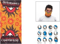 Jazzmyride Multifunctional Headwrap Or Scarf-The Sunshine Party Mask (Orange, Yellow, Pack Of 1)
