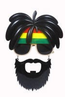Atpata Funky Hippi Black Beard Party Mask (Black, Pack Of 1)