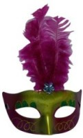 Smartcraft Showgirl Eye -Hot Pink Party Mask (Multicolor, Pack Of 1)