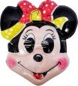 SNB Minnie Pvc Plastic Mask (set Of 12) Party Mask - Pack Of 12