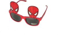 Satyam Kraft Spiderman_red Party Mask (Red, Pack Of 6)