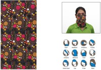 Jazzmyride Multifunctional Headwrap Or Scarf-Polka Dots Party Mask (Pink, White, Black, Pack Of 1)