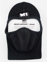 Bike World M1 Head Support Quality Face Mask Balaclava (Black, Pack Of 1)