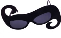 Funcart Swirly Sunglasses Party Mask (Black, Pack Of 1)