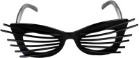 Funcart Kittyes Party Mask (Black, Pack Of 1)
