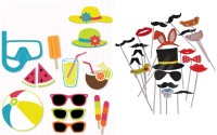 Fancy Steps Summer Party Party Mask (Multicolor, Pack Of 34)