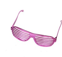 Satyam Kraft Rectangular_zigzag_pink Party Mask (Pink, Pack Of 6)