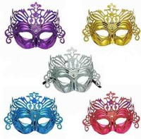 Toygully Multicolor Party Party Mask (Multicolor, Pack Of 5)