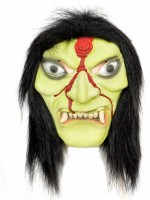 Tootpado Realistic Latex Rubber Adult Size Face - Witch 1a188 - Horror Halloween Ghost Scary Full Face Cosplay Costumes Supplies Creepy Zombie Party Mask (Multicolor, Pack Of 1)