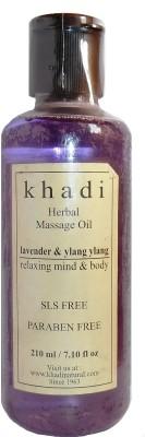 Khadi Herbal Lavender & Ylang Ylang Massage Oil (Relaxing Mind & Body) - SLS & Paraben Free - 210 Ml