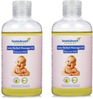 Healthbuddy Herbal Baby Massage Oil 2 Packs Of 200 Ml Each (400 Ml)
