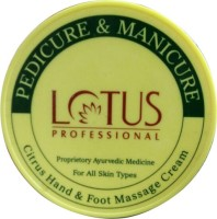 Lotus Herbals Professional Pedicure And Manicure Citrus Hand And Foot Massage Cream (300 G)