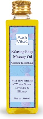 Auravedic Body and Essential Oils Auravedic Relaxing Body Massage Oil With Winter Green, Lavender & Bilberry