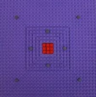 Gizmosoul AC015 Gizmo Soul Acupressure Power Relief Mat With Power Energy Massager Massager (blue, Purple)