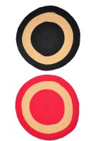 JBG Home Store Polyester Medium Door Mat JBG Home Store Set Of 2 Round Doormat (Multicolor, 2 Mats)