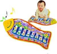 Taaza Garam Nylon Medium Play Mat Musical Imported Quality Baby Mat Gym Piano With Touch Music Gift Multi, 1 Mat