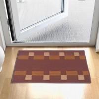 Status Polypropylene Large Floor Mat Floor Mat Set Of 2pcs (Brown)