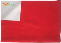 Oyo Baby Cotton Medium Changing Mat Baby Care Sheet (Red, 1 Mat)