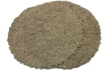 Tiskal Cotton Medium Bath Mat Karisma Round-Light Beige-2 Beige