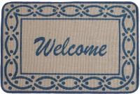 Saral Home Jute Medium Door Mat MULTI PURPOSE JUTE MAT (Blue, 1 MAT)