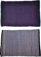 JBG Home Store Cotton Medium Door Mat JBG Home Store Set Of 2 Mini Check Design Mat( Assorted) (Multicolor, 2 Mats)