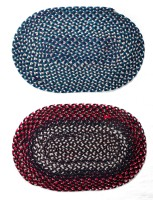 JBG Home Store Cotton Medium Door Mat JBG Home Store Set Of 2 Attractive Oval Shaped Door Mat( Assorted) (Multicolor, 2 Mats)