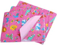 Baby Bucket Cotton, Plastic Free Changing Mat Multi Purpose Changeable (Pink)