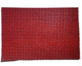 Jojo Designs Latex Rubber Small Floor Mat 40x60 Turf Plastic Mat Red