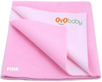 Oyo Baby Cotton Medium Changing Mat Baby Care Sheet (Pink, 1 Mat)