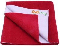 Oyo Baby Cotton Large Changing Mat Baby Care Sheet (Maroon, 1 Mat)