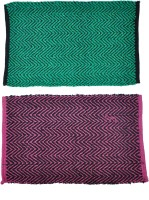 JBG Home Store Cotton Medium Door Mat JBG Home Store Set Of 2 Beautiful Abstarct Design Mat (Multicolor, 2 Mats)