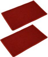 Kuber Industries Cotton Medium Door Mat Door Mat Set Of 2 Pcs Red