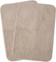 Saral Home Microfiber Large Bath Mat Premium Quality Soft Micro Polyester Bathmat Set Of 2Pc -40X60 Cm -2Pc Beige, 2Pc Bath Mat