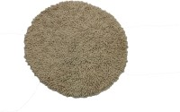 Tiskal Cotton Medium Bath Mat Karisma Round-Light Beige-1 Beige