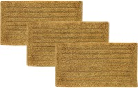 Tiskal Cotton Medium Bath Mat TK-BM-FRANK_Beige-3 Beige, 3 Bath Mat