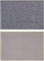 Status Nylon Medium Door Mat Solid_grey_beige_2pcs (Grey, 2 Mat)