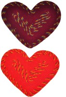 JBG Home Store Acrylic Medium Door Mat JBG Home Store Set Of 2 Heart Shape Mat (Multicolor, 2 Mats)