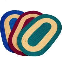 MID Polyester Medium Door Mat MID Carpets Polyester Medium Door Mat Door Mat Set Of 3 BLUE, RED